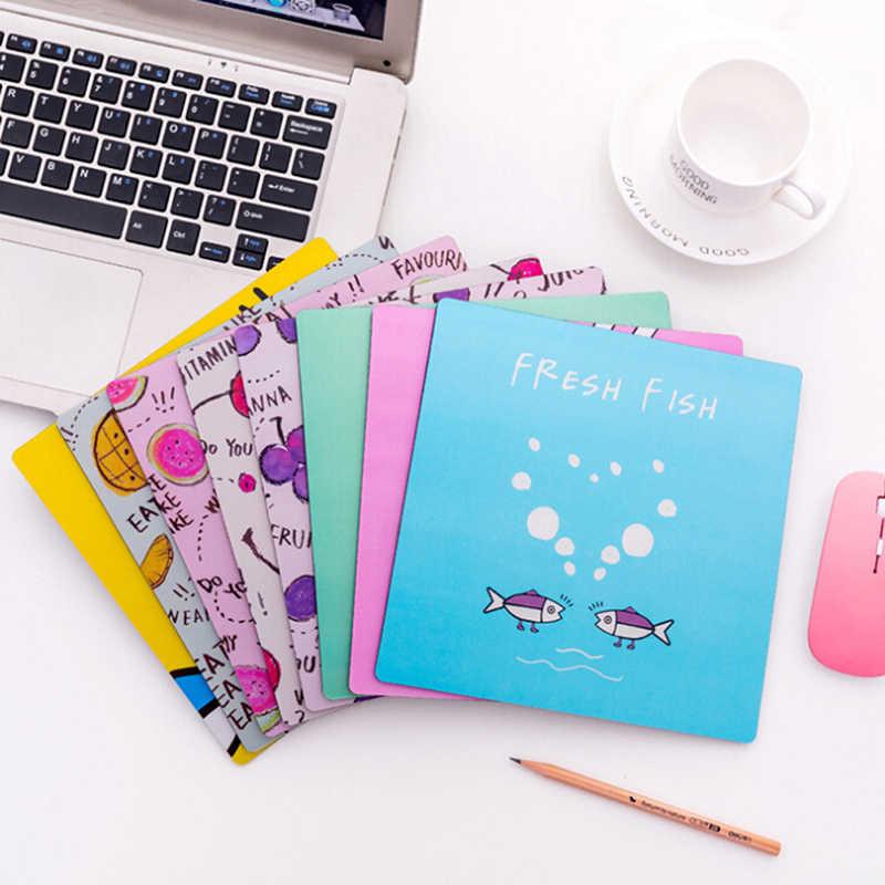 漫画の赤ちゃんクマ英語文字の果物マウスパッド PC コンピュータマット防水抗スリップノートパソコンのマウスパッドマットマウスパッド