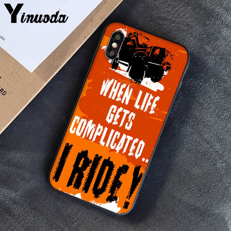 Image 5 - Yinuoda Off road tire track Customer High Quality Phone Case for Apple iPhone 8 7 6 6S Plus X XS MAX 5 5S SE XR Cover-in Half-wrapped Cases from Cellphones & Telecommunications