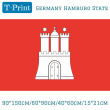 Free shipping 90*150cm/60*90cm/40*60cm/15*21cm Germany Hamburg State FLAG Free shipping