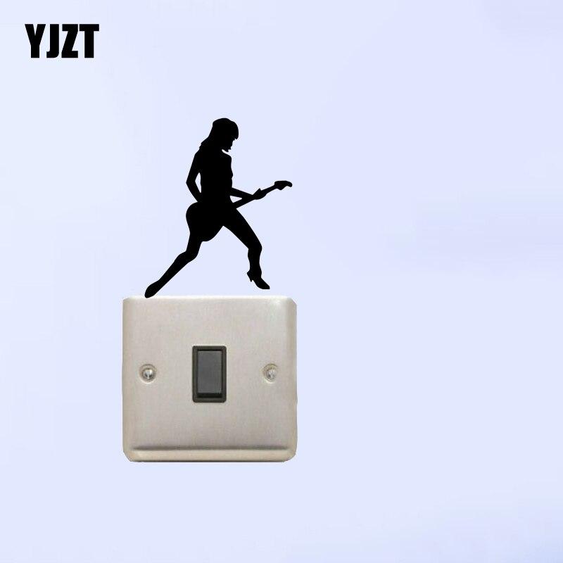 Кристиан Rocker Girl выключатель света Стикеры Наклейка на стену винил 7ss0277