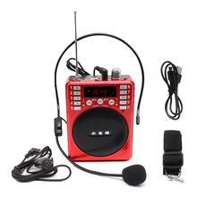 Портативный усилитель голоса громкоговоритель FM радио TF MP3 плеер для обучения учителя