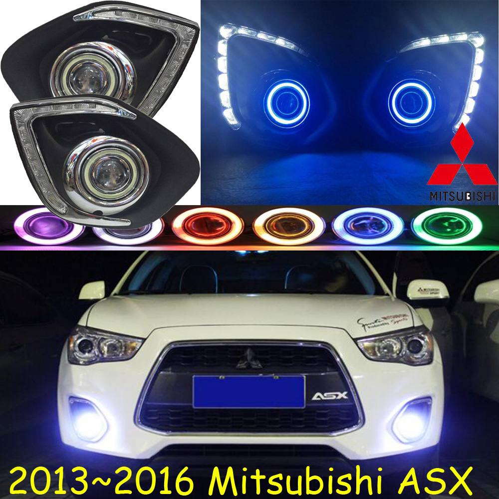 ASX fog light LED 2013~2016 Free ship!ASX daytime light,2ps/set+wire ON/OFF:Halogen/HID XENON+Ballast,ASX bqlzr dc12 24v black push button switch with connector wire s ot on off fog led light for toyota old style