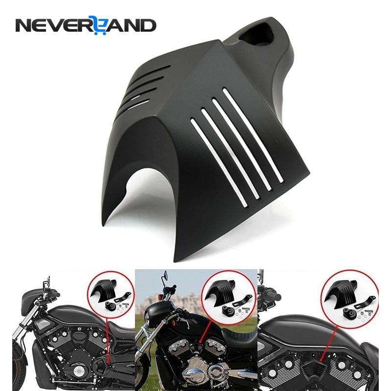 Aluminum Motorcycle V-shield Stock Cowbell Horn Cover For Harley Dyna Glide Street FXDB Fat Bob Twin Cam 88 96 Electra EVO D25
