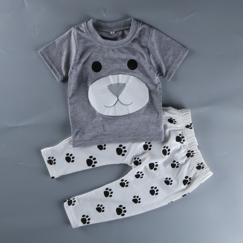 2017 2pcs short T-shirt +Pants Baby boy clothes toddler baby outfit  infant Toddler Prewalker newborm baby romper clothes set infant baby boy girl 2pcs clothes set kids short sleeve you serious clark letters romper tops car print pants 2pcs outfit set