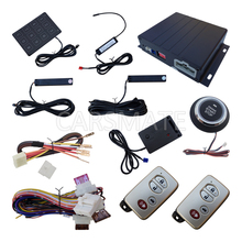 Smart PKE Car Alarm System With Vibration Sensor Remote Engine Start Push Start Button Passive Keyless Entry Auto Lock &Unlock