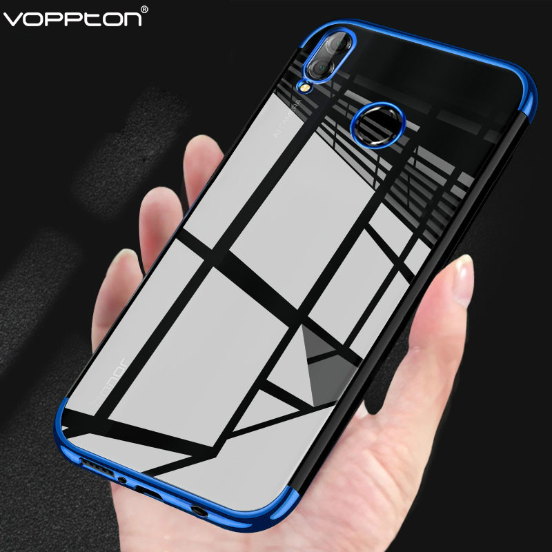 For Huawei P Smart 2019 Case Transparent Plating Soft TPU Silicone Clear Back Cover For P Smart 2019 Phone Case Shockproof funda