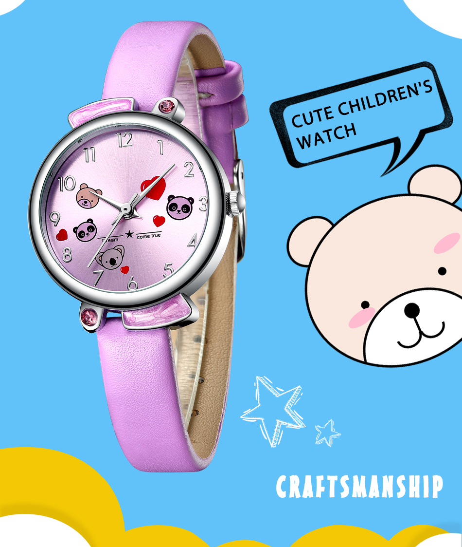 Relógio Menino Menina Bonito Dos Desenhos Animados