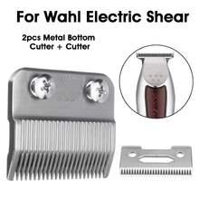 2 шт щепка 2 отверстия клипер лезвие Резак металлический нижний резак для Wahl электрические ножницы машинка для стрижки волос триммеры для парикмахерского домашнего использования