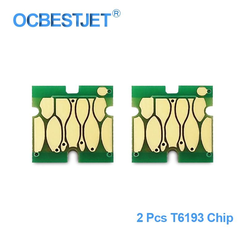 2 peças T6193 Chip de Tanque de Manutenção Para Epson T3000 T5200 T7200 T3270 T5270 T7270 F6000 F6070 F6000 B6070 B7000 Permanente chip