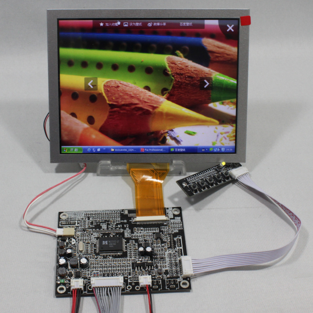 VGA AV Lcd Controller board with 8inch AT080TN52 800x600 lcd panelVGA AV Lcd Controller board with 8inch AT080TN52 800x600 lcd panel