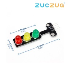 Mini 5V Traffic Light LED Display Module for Arduino Red Yellow Green 5mm LED Mini-Traffic Light for Traffic Light System Model 100mm diameter red yellow green cluster one piece traffic signal module