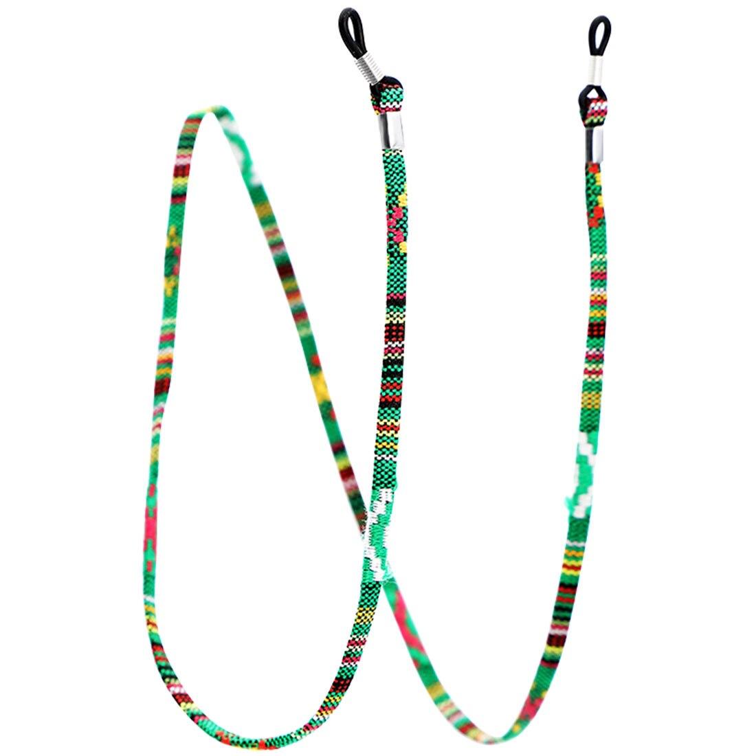 1 шт., 6 цветов, кожаный шнурок для очков, регулируемый конец, держатель для очков, красочные кожаные очки, шейный ремешок, веревка, ремешок - Цвет: 1