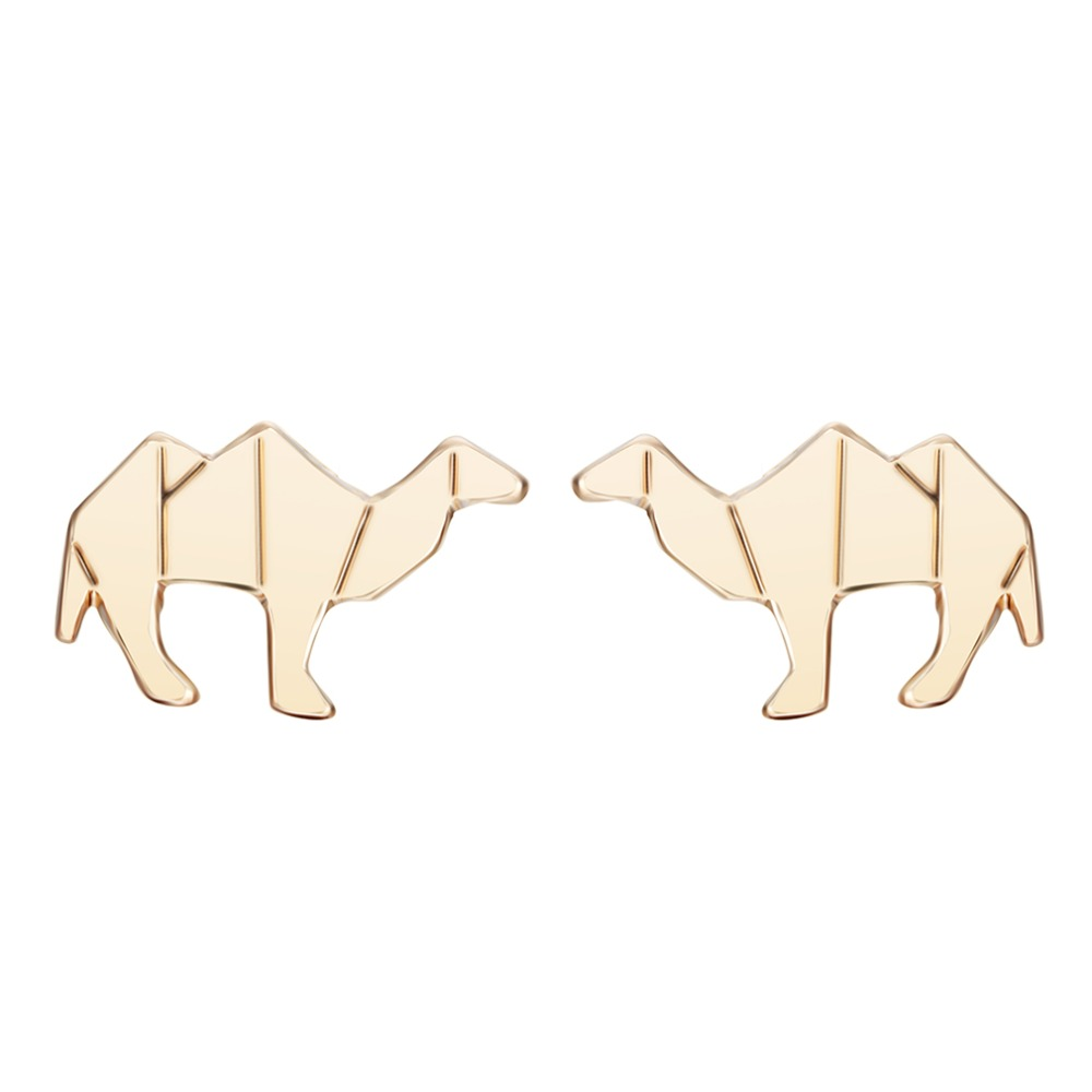 QIAMNI 10pcs/lot Camel Earrings Gold Silver Mens Earring Magnetic Stud Earrings For Women Girls Famous Brand Jewelry Christma