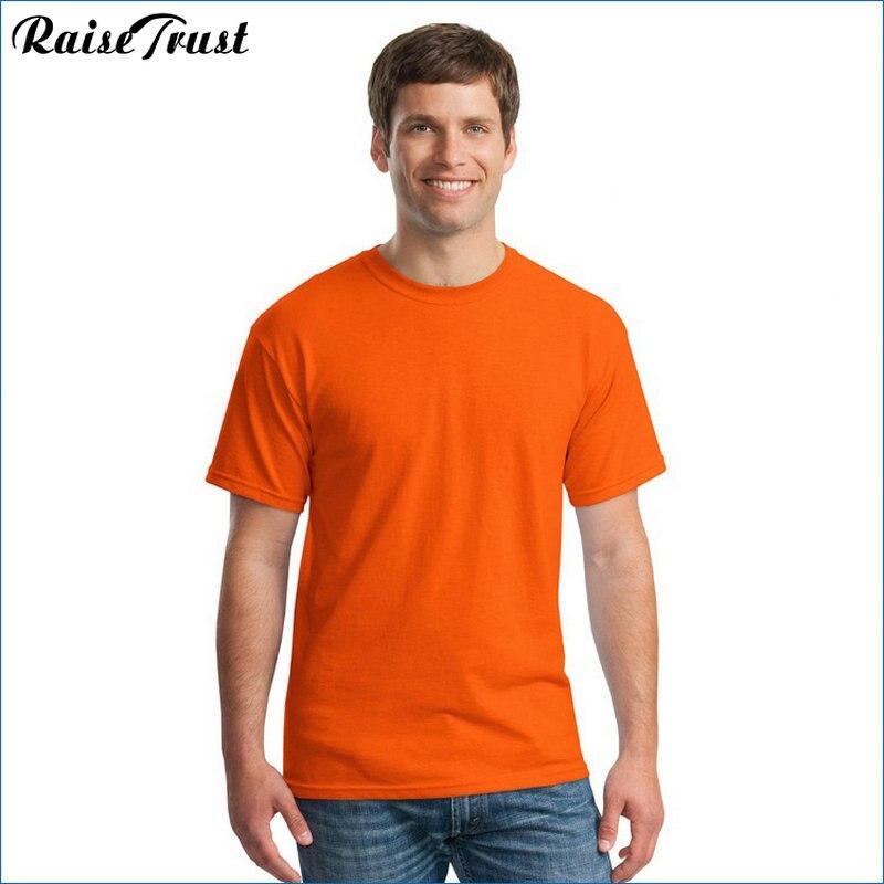 2019 Yeni Katı renk T Gömlek yaz Erkekler t gömlek kısa kollu - Erkek Giyim - Fotoğraf 1