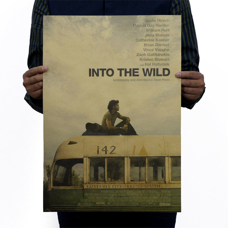 Into The Wild Nostalgia Vintage Kraft Paper Movie Poster Magazine Home Decor  Art  Retro Posters And Prints Decorativos