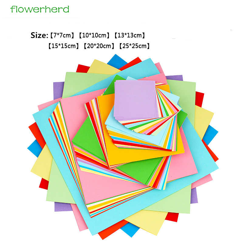 520 Pcs Colorful Easy Folding Paper with 10 Colors Square Double Sided Origami Crane Craft for Beginner Origami Paper