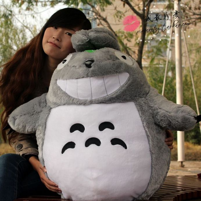 anime TV figure 90 cm Totoro plush toy soft throw pillow soft doll gift w3195 lovely totoro doll large 50cm plush toy doll soft throw pillow christmas gift x061