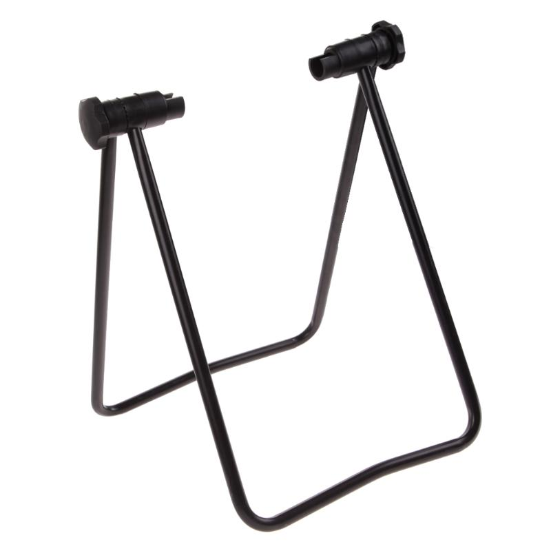 Universal Bike Display Triple Wheel Hub Bicycle Bike Repair Stand Kick Stands for Parking Folding Holder Bicycle Accessories