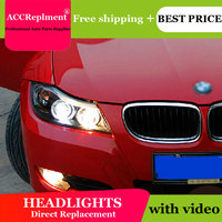 Стайлинга автомобилей Светодиодный фара для BMW E90 фары 318 320 325 светодиодный фар Ангел глаз фар би ксенон спереди accesspories