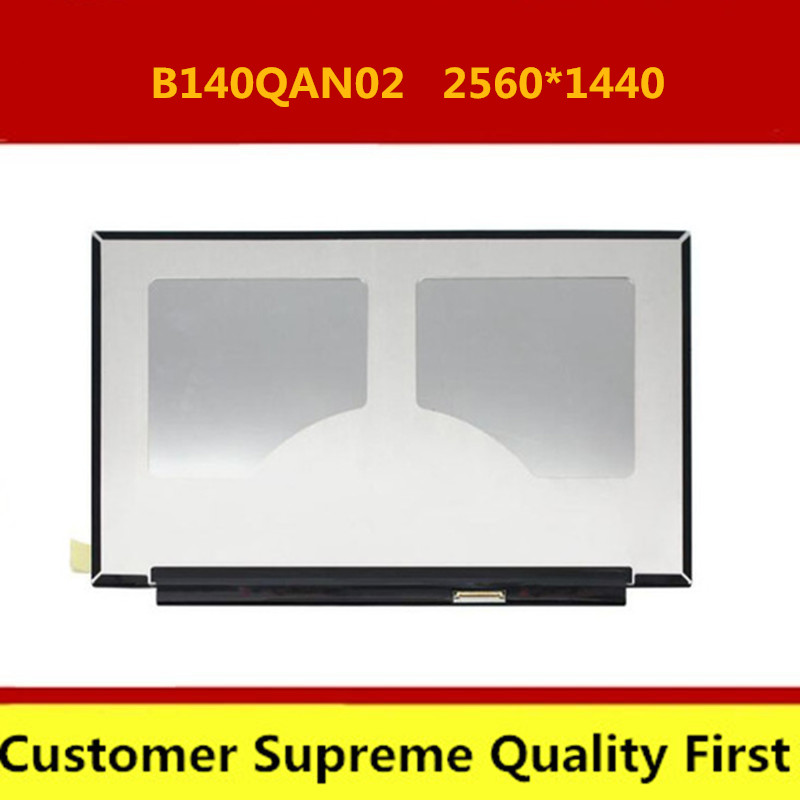 "Free shipping 14.0""Laptop LED LCD Screen B140QAN02.0 B140QAN02.3 2560x1440 WQHD eDP 40PINS Display Non-touch"