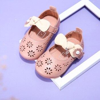 2019 primavera y verano nueva 0-1 años de edad bebé de fondo suave zapatos de bebé de dibujos animados hueco zapatos de princesa zapatos
