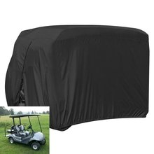 Waterproof Dust Prevention Golf Cart Cover for 4 Passenger  Club Car Yamaha Golf Carts Black dfdf