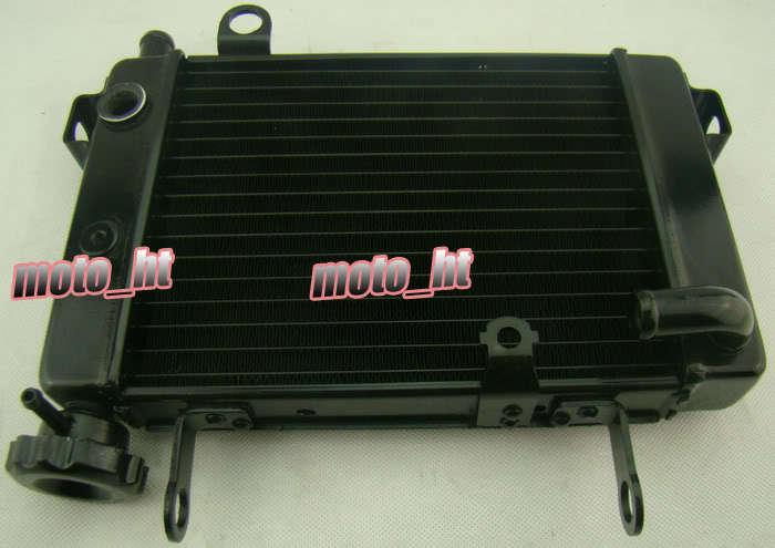 For Honda Cooler Radiator CBR 125 RR 2003 2004 2005 2006 2007 2008 2009 Aluminum Black for honda cbr1000rr 2004 2005 2006 2007 silicone radiator coolant hose kit colors red blue black