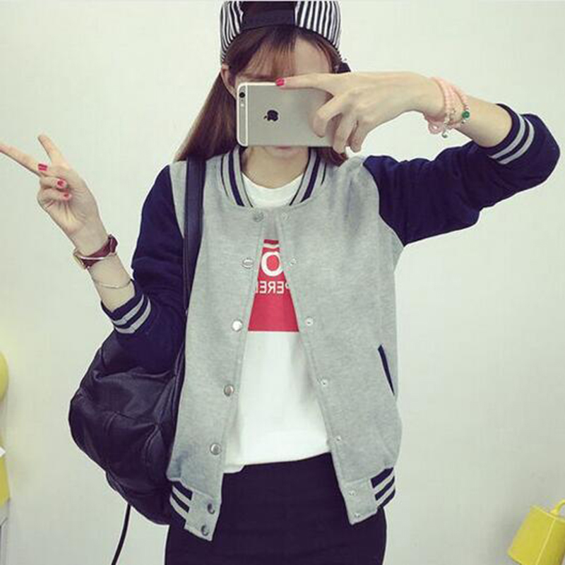 5f2349adbe45a ZYFPGS Autumn Baseball Jacket Women Bomber Jackets For Women Plus Size  Patchwork Coat Fitness Fashion Classic Sale Hot JSK083-in Basic Jackets  from Women s ...