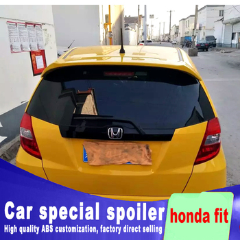 Best Original Factory High Quality ABS Material Spoiler For 2008 To 2013 Honda Fit Rear Window Roof Wing Rear Spoiler By Primer