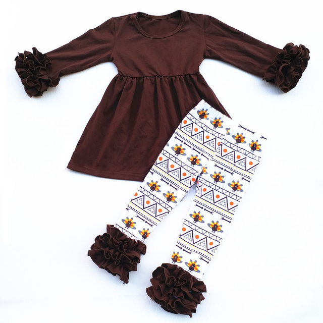 e41907cf3b38c Girl Thanksgiving Outfit,Pumpkin Spice,Toddler halloween Thanksgiving  Ruffle leggings,turkey Patch,Thankful christmas outfit set