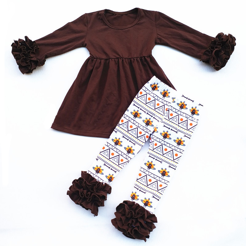 Girl Thanksgiving Outfit,Pumpkin Spice,Toddler halloween Thanksgiving Ruffle leggings,tu ...