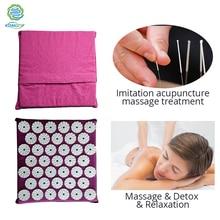 KONGDY мини акупунктурный Массажный коврик для снятия боли в спине и теле акупунктурная подушка Массажер для тела снимает стресс и мышечное напряжение