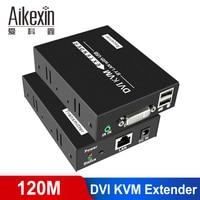 Aikexin 120m DVI Extender DVI KVM Extender over Cat 5e/ Cat 6 Lan UTP RJ45 Ethernet Cable With Mouse Keyboad Control
