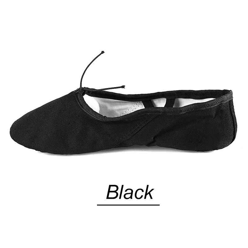 Hoting Soft Sole เด็กเด็กบัลเล่ต์รองเท้าเด็กผู้หญิงการฝึกอบรมบัลเล่ต์เต้นรำรองเท้าผู้หญิงสีดำสีขาว 17CMKids ผู้ใหญ่