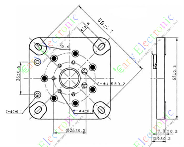 Wholesale And Retail 4pc 7pin Ceramic Vacuum Tube Socket Valve Base