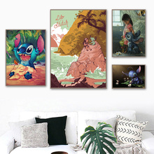 Lilo Stitch Cute Poster Canvas Painting Print Living Room Home Decoration Modern Wall Art Oil Painting Salon Pictures Framework billie eilish fan art poster canvas painting print living room home decor modern wall art oil painting salon pictures framework