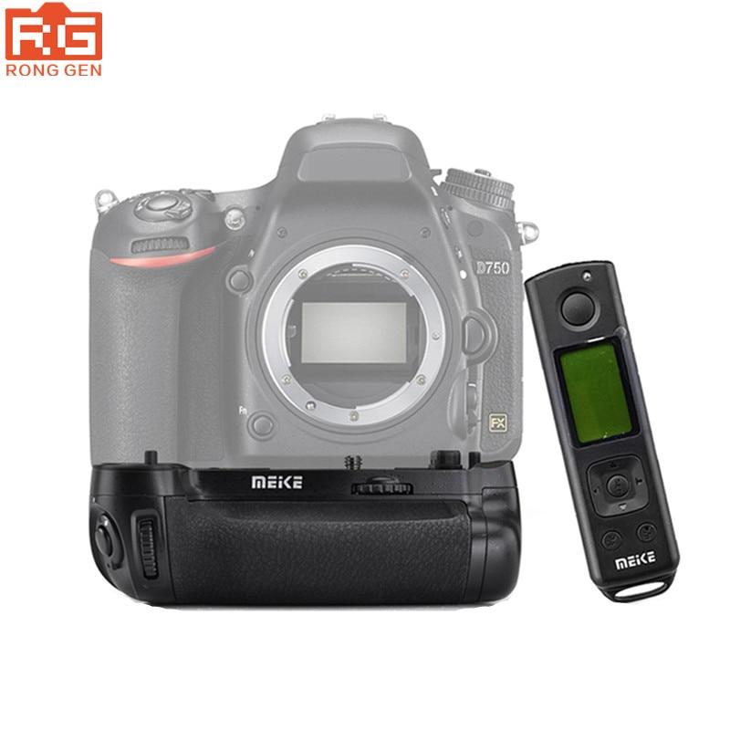 bilder für Meike MK-DR750 Batterie griff Vertikale Batterie Eingebaute 2,4g Drahtlose Steuerung Batteriegriff für Nikon D750 ALS MB-D16 Wireless Re