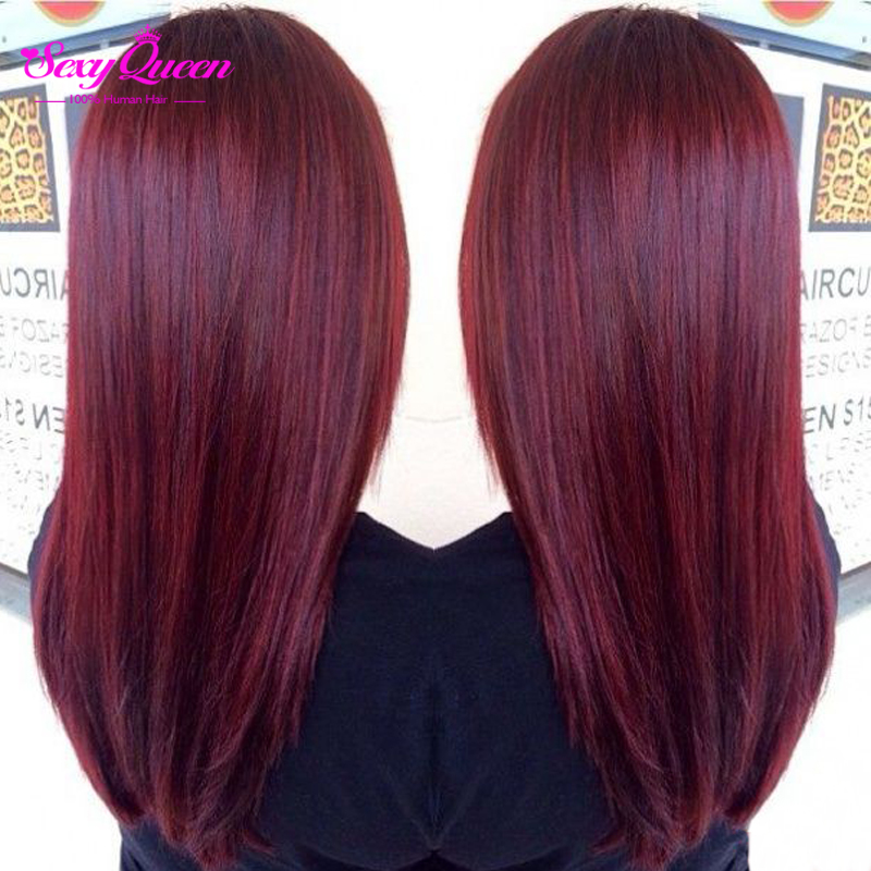 Sexy Formula Ombre Red Hair 4 Bundles Spring Queen Brazilian Straight Human Virgin Weave