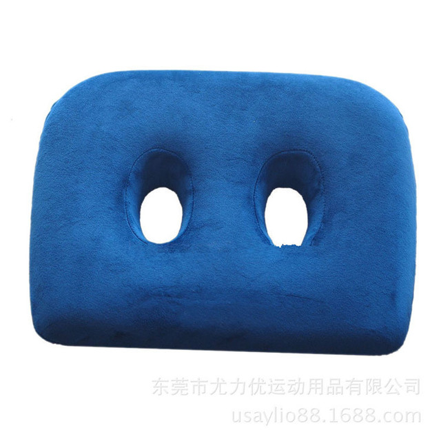Us 19 38 45 Off Rebound Cushion Two Holes Seat Cushion Memory Foam Seat Slim Cushion Comfort Foam Seat Cushion With Two Holes For Sitting Bones In