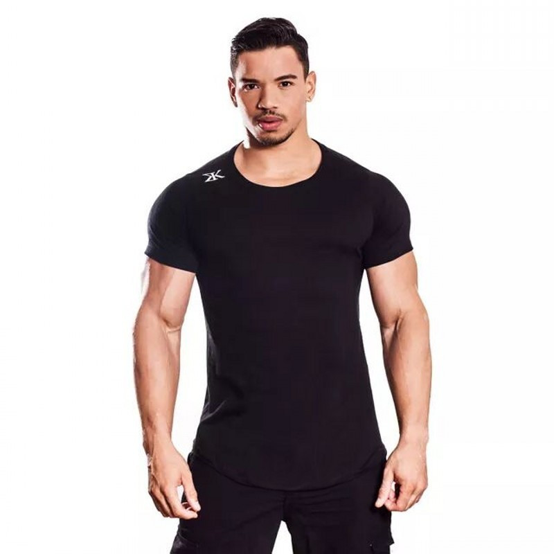 2018 New men cotton Short sleeve t shirt Fitness bodybuilding shirts male Brand tee tops Fashion t-shirt size M-2XL