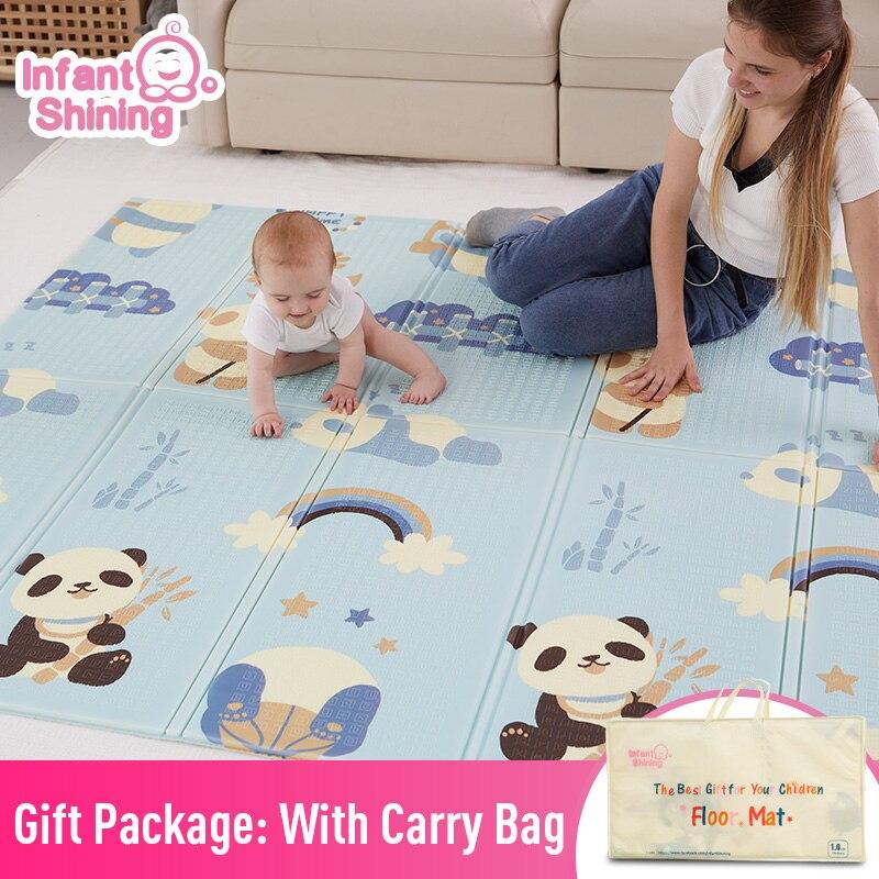 Tapis de jeu brillant pour bébé tapis de jeu pour enfants tapis de jeu pour bébé 200*180*1 cm mousse XPE Puzzle tapis de jeu pour bébés tapis souple éducatif