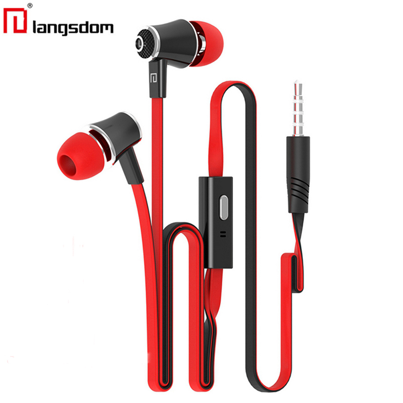 Original Langsdom JM21 In ear Earphone, stereo Headset HI-FI bass 8 colors with micphone For IOS&Android phone MP3 MP4
