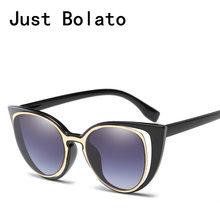 2018 ojo de gato Gafas de sol mujer cateye marca diseñador mujeres Gafas de  sol retro única mujer Sol glases luneta para mujer a2b65926dd40