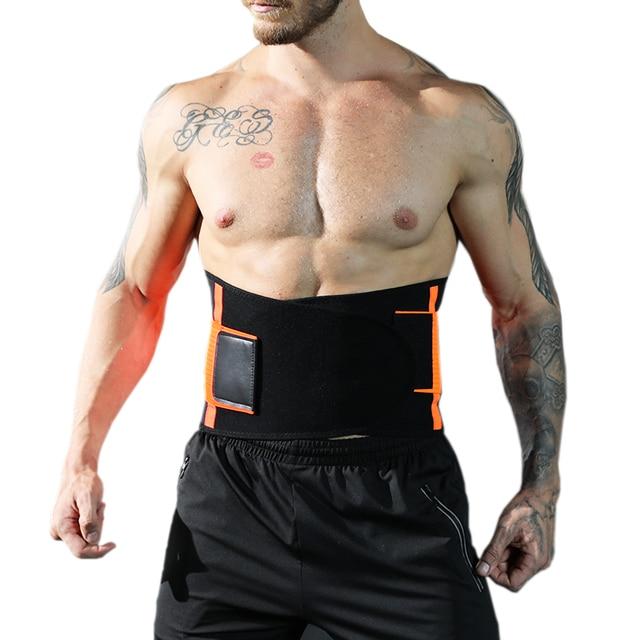 Women Men Waist Trimmer Belt Lumbar Back Support Brace Fitness Weightlifting Belt Adjustable Abdominal Elastic Waist Trainer 3