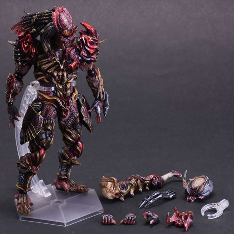 C&F Alien vs. Predator Action Figure Toys Removable 30 CM Horror Monster Colorful PVC Model Collectible Garage Kits Toys predator action figure master wolf predator anime movie predator vs alien collectible model toy pvc 200mm