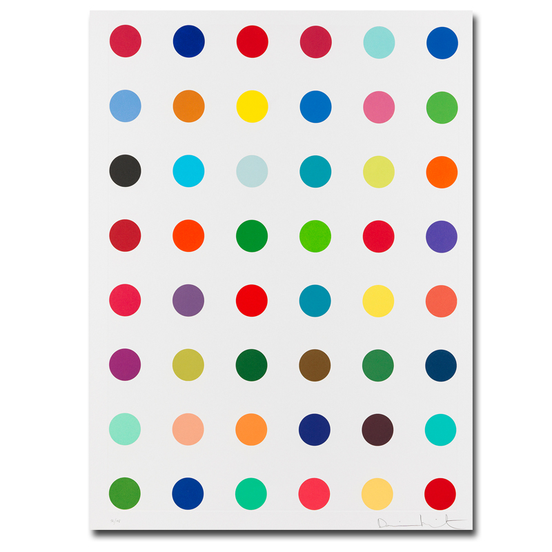 DAMIEN HIRST Canvas Painting Dot Pictures Printed On Canvas Modern Abstract Art Butterfly Canvas Wall Art Decoration Paintings