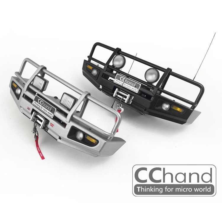 CChand metal front bumper for RC4WD 1/10 ARB-DELUXE TF2-LWB chassis + killerbody TOYOTA LC70 攀岩 車 1 10 硬 殼