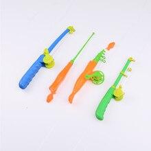 1 шт., удочка для маленьких детей, магнитная удочка, модель рыбы, обучающая игрушка, пластиковая забавная игра, подарок