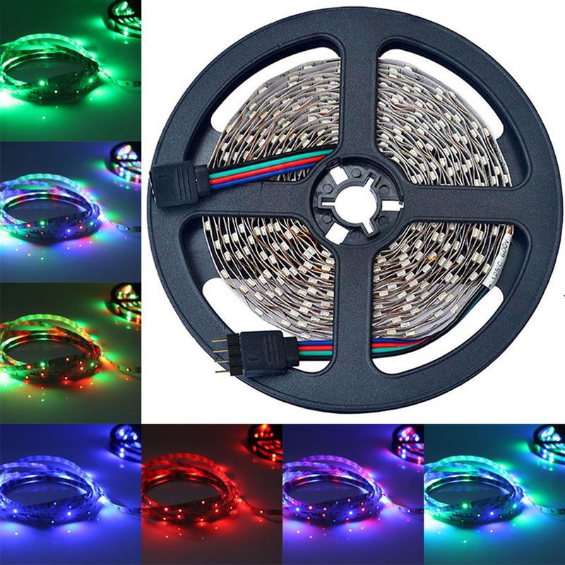 10 м 600-Светодиодные ленты света не Водонепроницаемый SMD 3528 гибкие RGB Цвет меняется света строки
