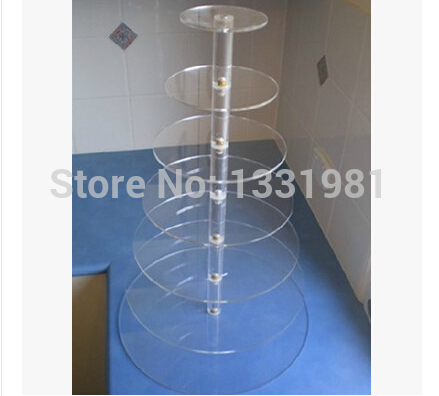 7 layers of circular acrylic cake tower cup cake tier 7 turn wrappers The wedding festival cake display shelf7 layers of circular acrylic cake tower cup cake tier 7 turn wrappers The wedding festival cake display shelf
